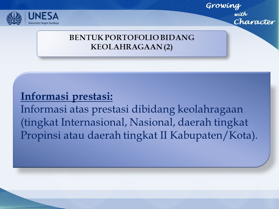 BENTUK PORTOFOLIO BIDANG KEOLAHRAGAAN (2)