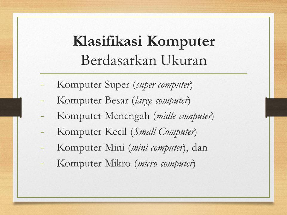 Klasifikasi Komputer Berdasarkan Ukuran