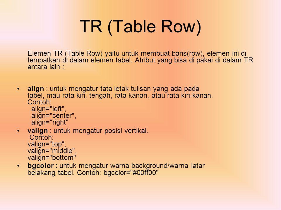 TR (Table Row)
