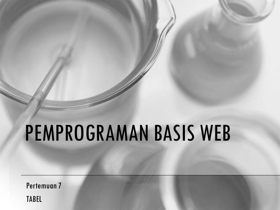 Pemprograman BaSIS Web