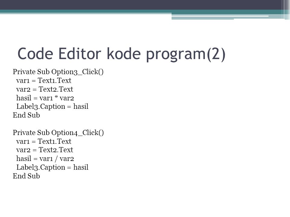 Code Editor kode program(2)