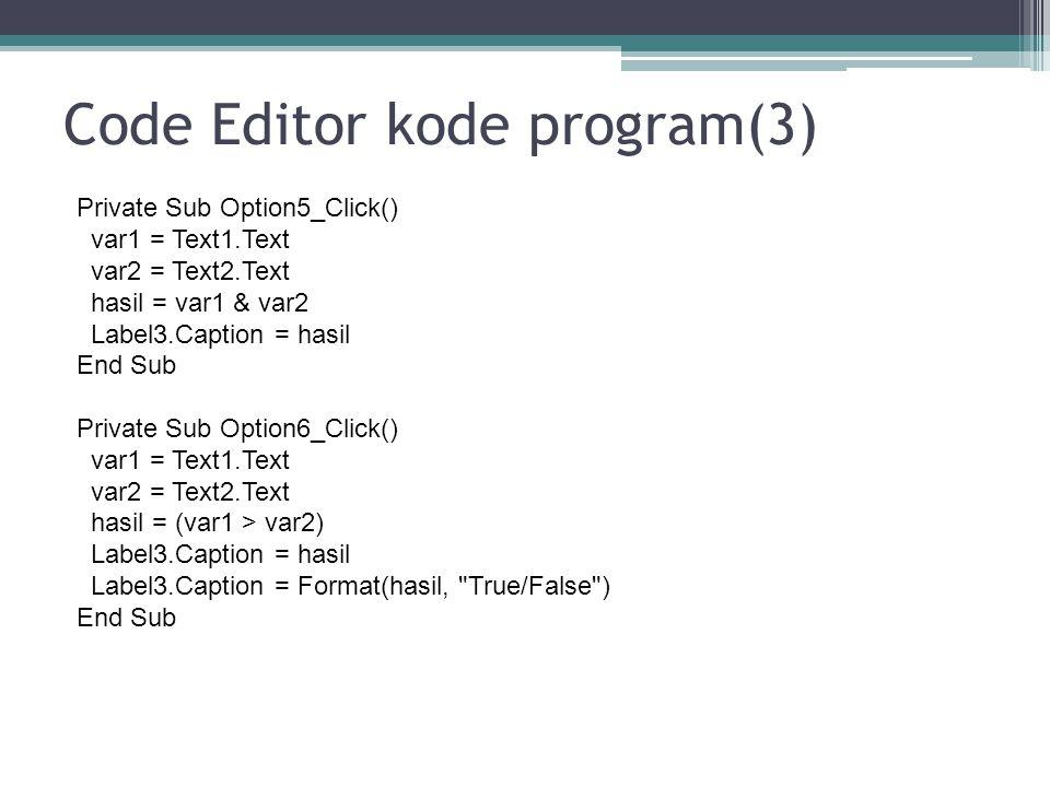 Code Editor kode program(3)
