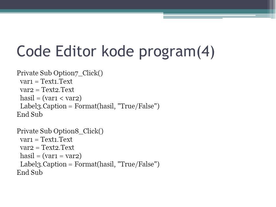Code Editor kode program(4)