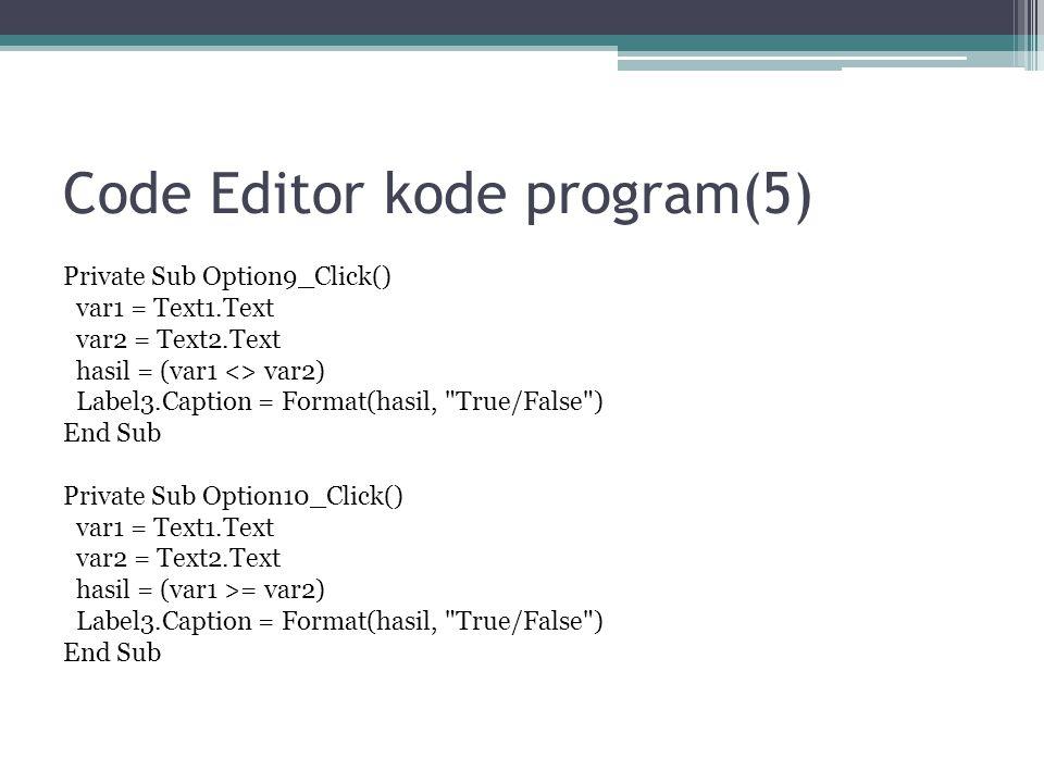 Code Editor kode program(5)