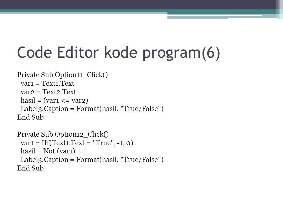 Code Editor kode program(6)