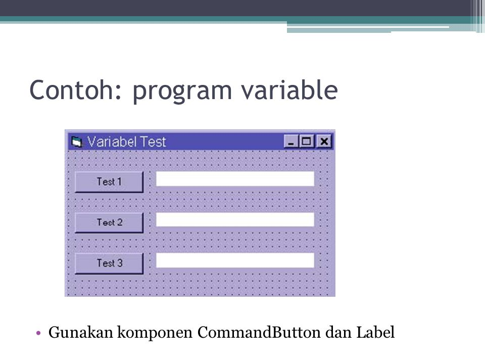 Contoh: program variable