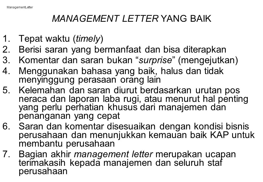 Bab_19 ManagementLetter