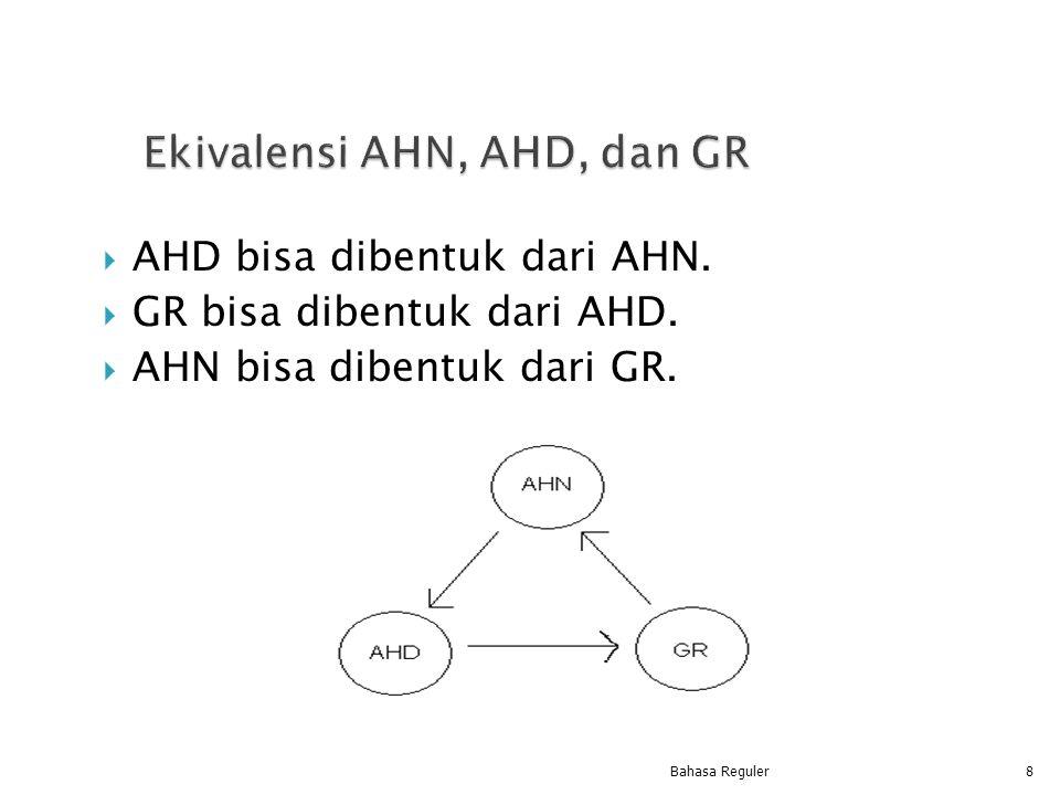Ekivalensi AHN, AHD, dan GR