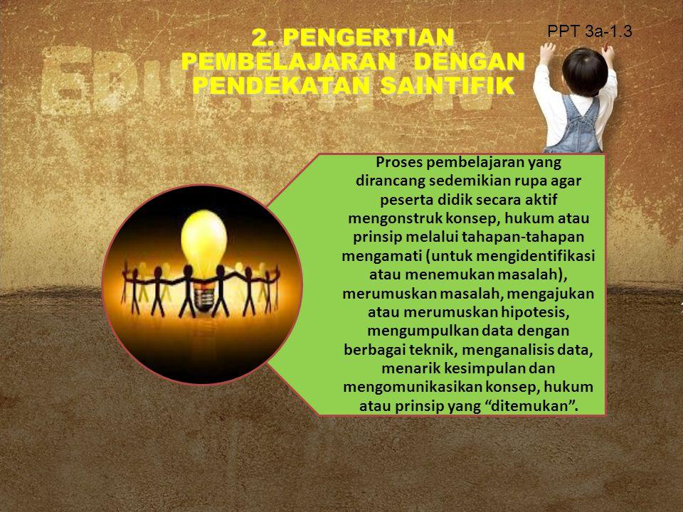 2. PENGERTIAN PEMBELAJARAN DENGAN PENDEKATAN SAINTIFIK