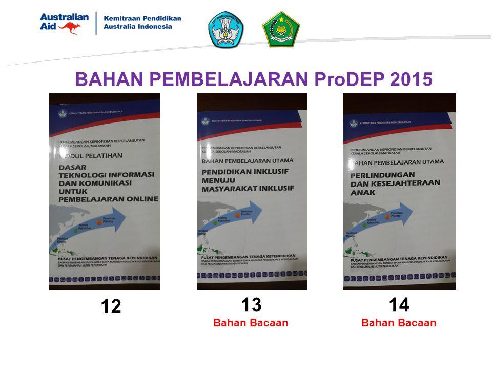 BAHAN PEMBELAJARAN ProDEP 2015