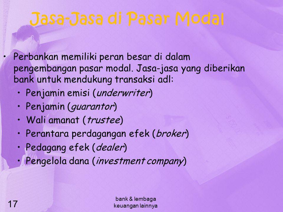 Jasa-Jasa di Pasar Modal