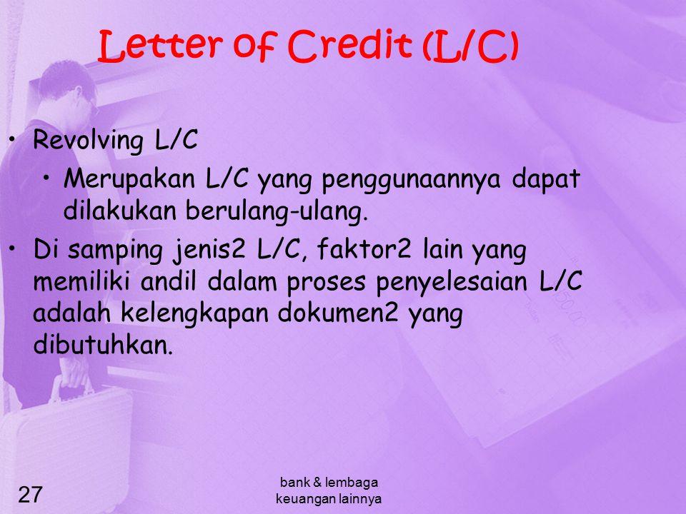 bank & lembaga keuangan lainnya