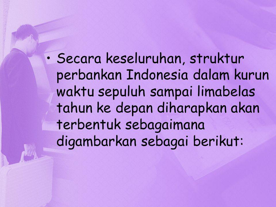 Secara keseluruhan, struktur perbankan Indonesia dalam kurun waktu sepuluh sampai limabelas tahun ke depan diharapkan akan terbentuk sebagaimana digambarkan sebagai berikut: