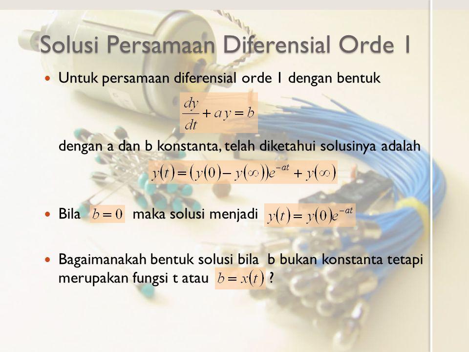 Solusi Persamaan Diferensial Orde 1