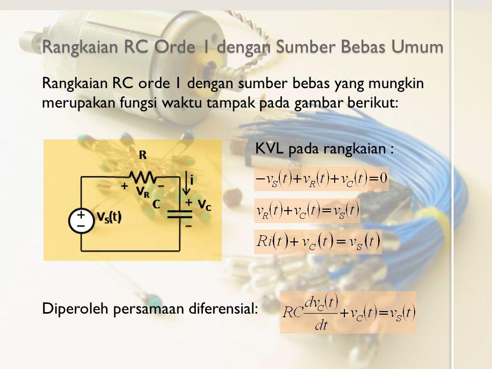 Rangkaian RC Orde 1 dengan Sumber Bebas Umum