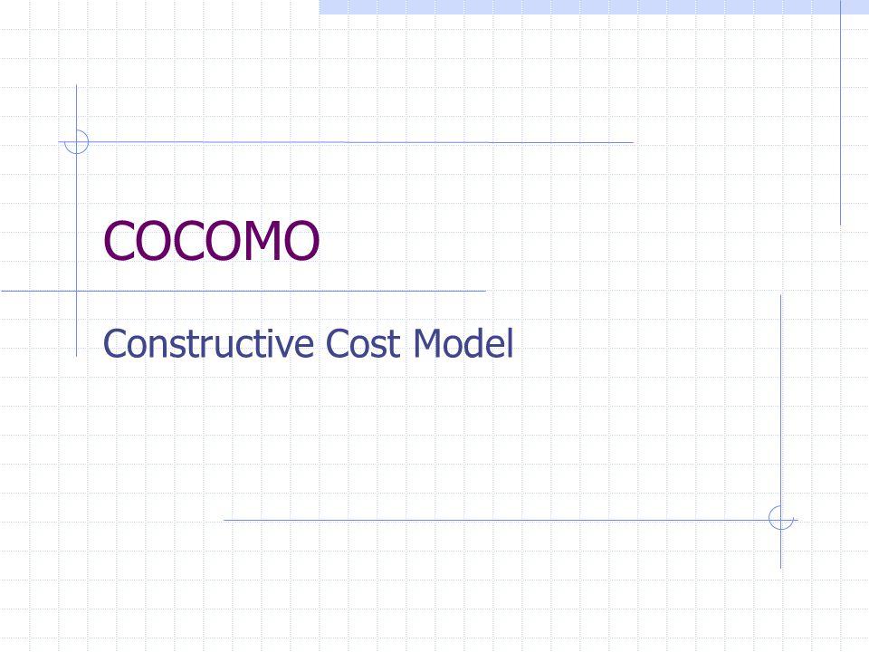 Constructive Cost Model