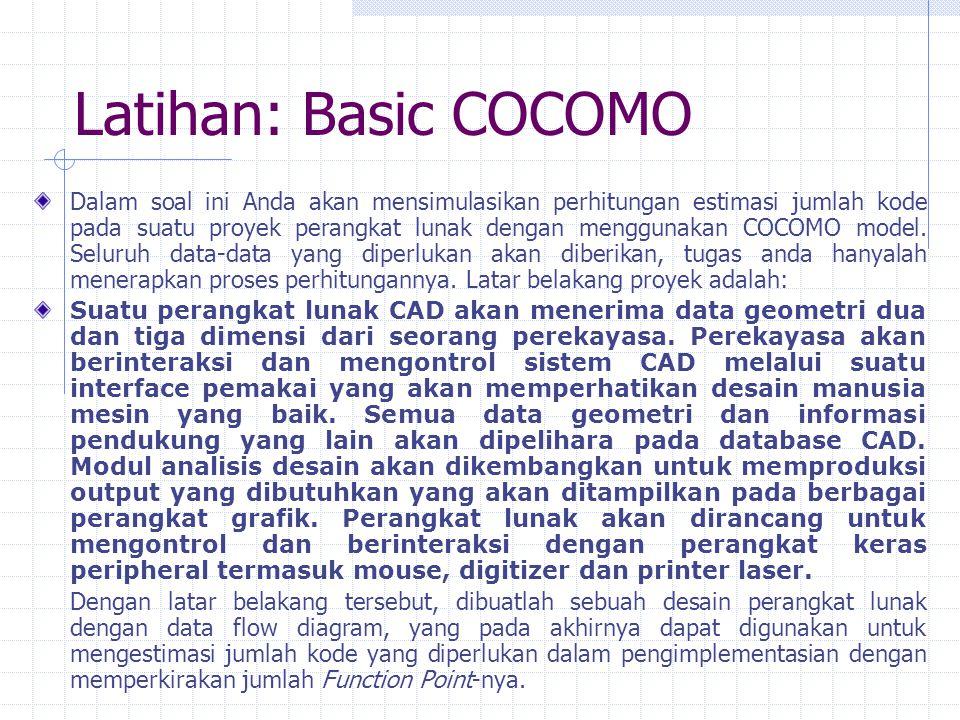 Latihan: Basic COCOMO