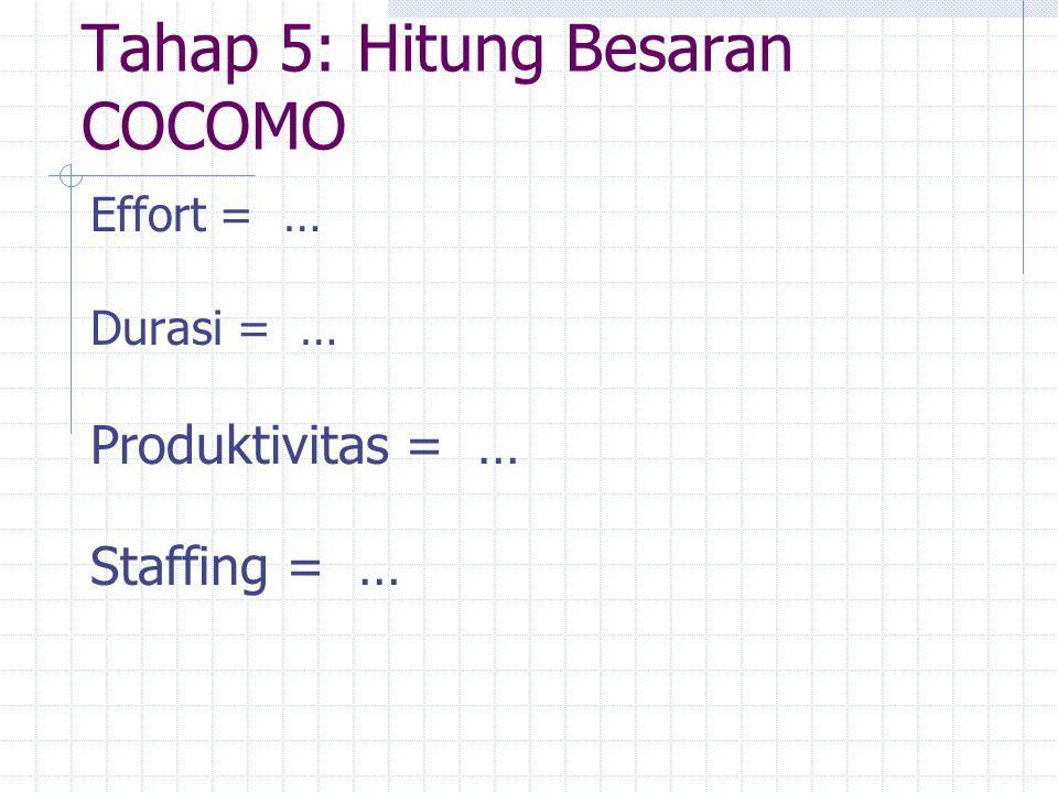 Tahap 5: Hitung Besaran COCOMO