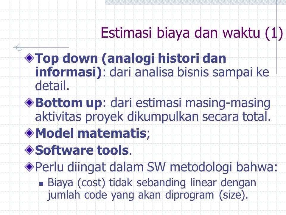 Estimasi biaya dan waktu (1)