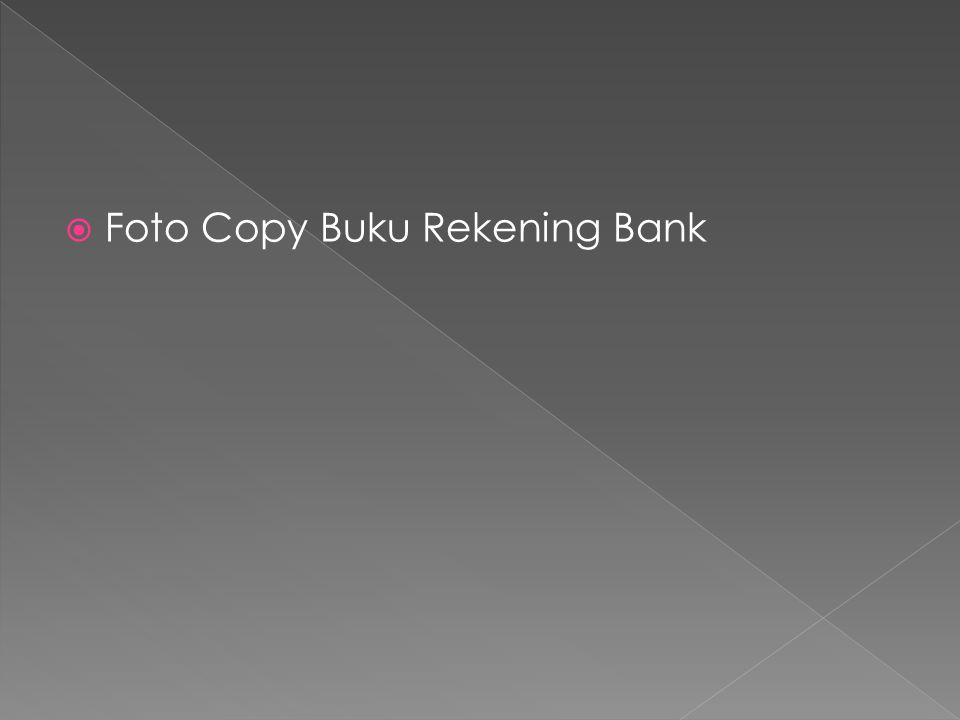 Foto Copy Buku Rekening Bank