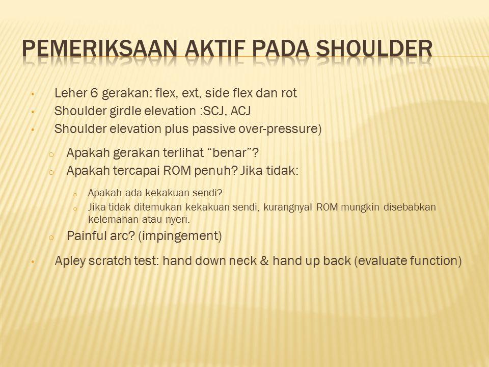 Pemeriksaan aktif pada shoulder