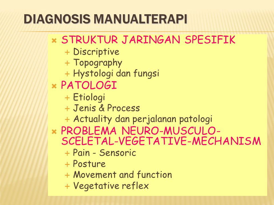 DIAGNOSIS MANUALTERAPI