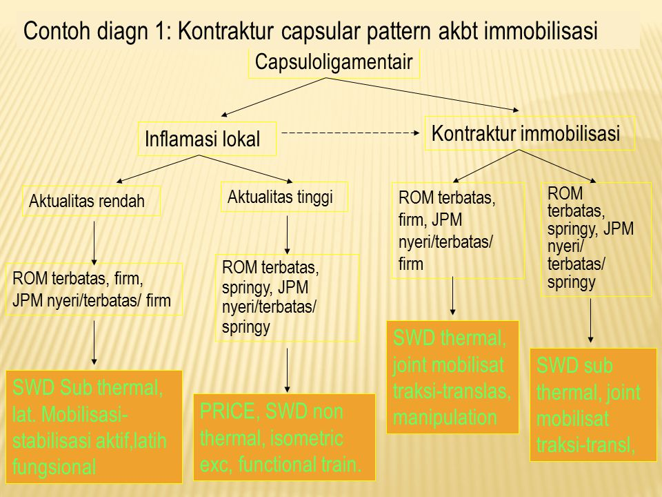 Contoh diagn 1: Kontraktur capsular pattern akbt immobilisasi