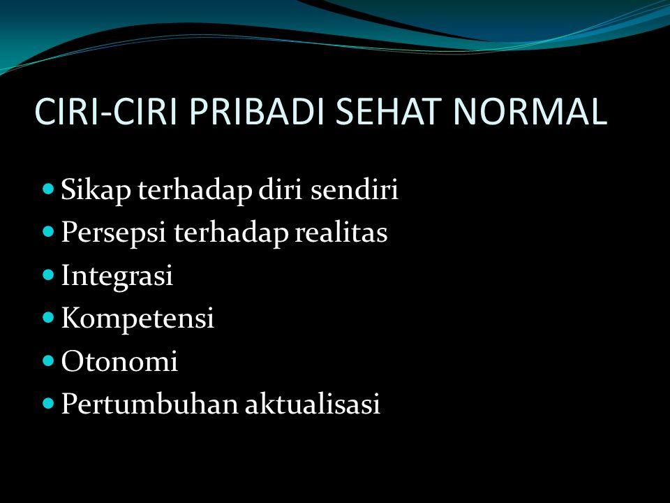 CIRI-CIRI PRIBADI SEHAT NORMAL