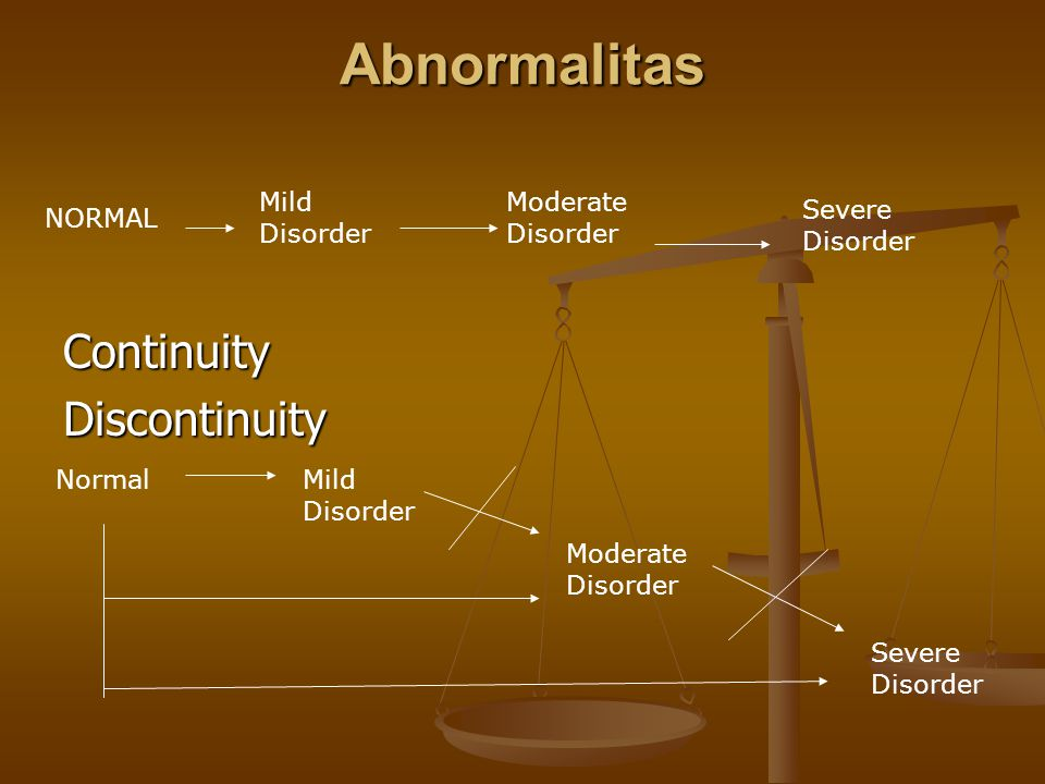 Abnormalitas Continuity Discontinuity Mild Disorder Moderate Disorder