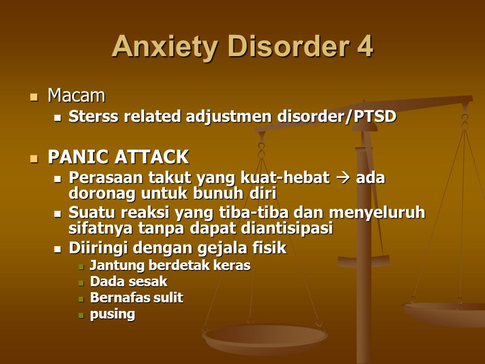 Anxiety Disorder 4 Macam PANIC ATTACK
