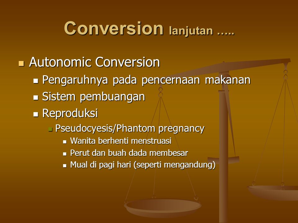 Conversion lanjutan ….. Autonomic Conversion
