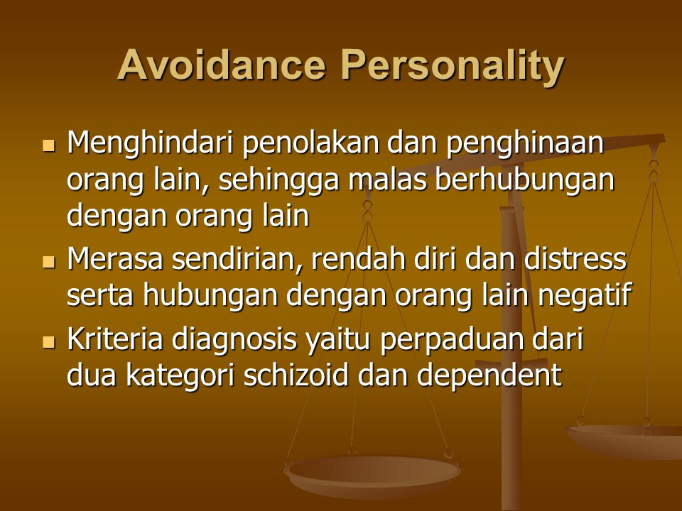 Avoidance Personality