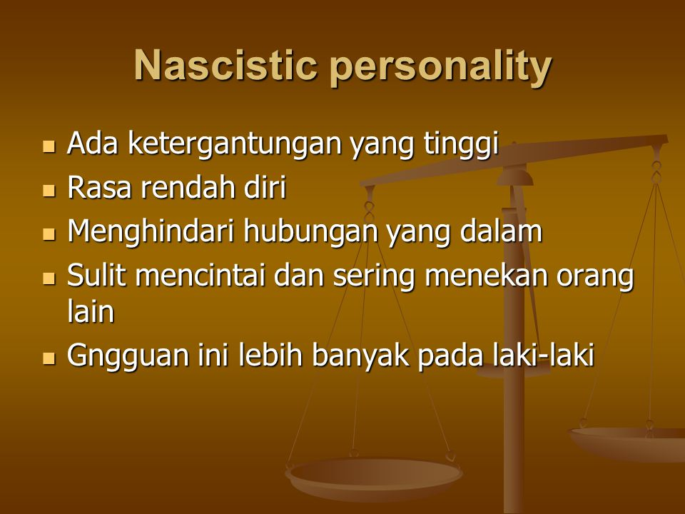 Nascistic personality