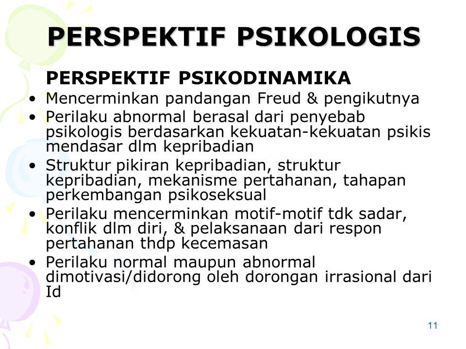 PERSPEKTIF PSIKOLOGIS