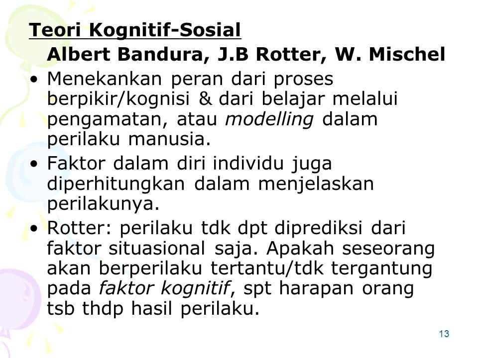 Teori Kognitif-Sosial