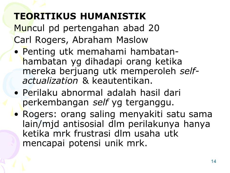 TEORITIKUS HUMANISTIK