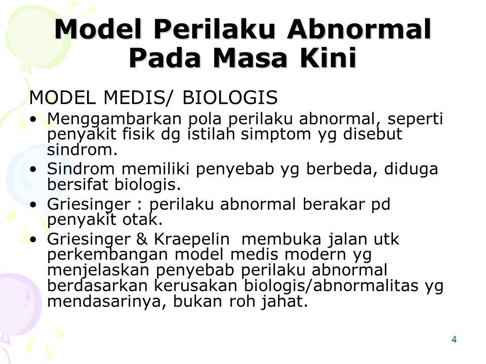 Model Perilaku Abnormal Pada Masa Kini