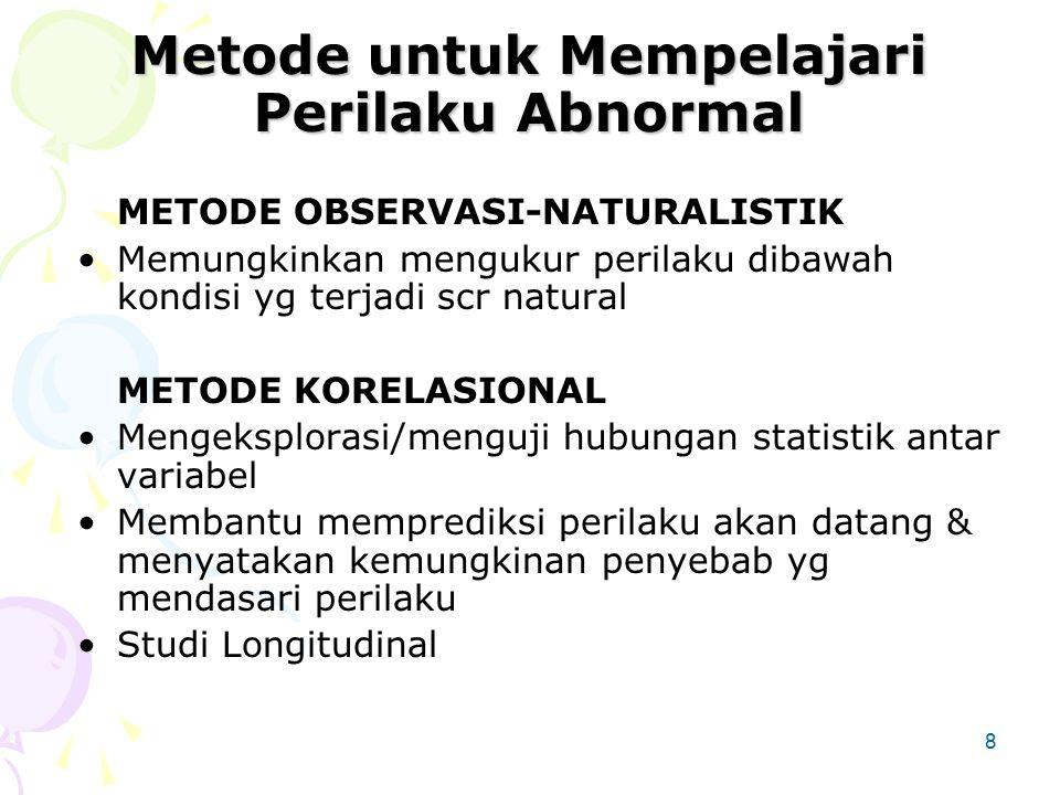 Metode untuk Mempelajari Perilaku Abnormal