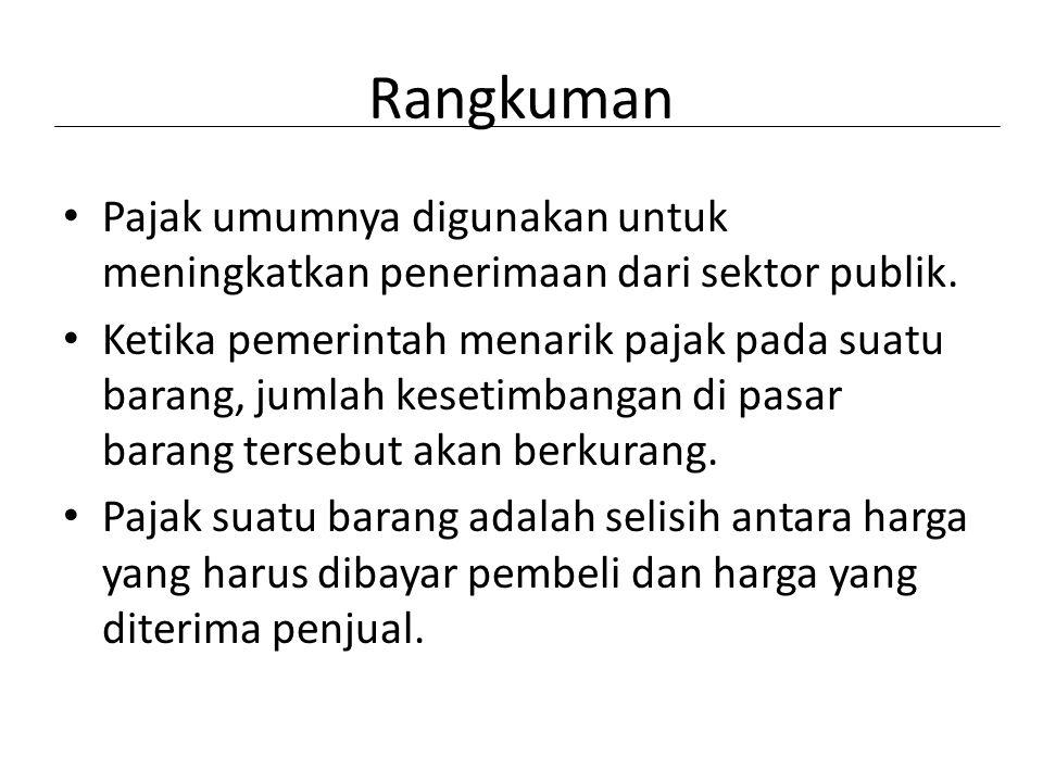 Rangkuman Pajak umumnya digunakan untuk meningkatkan penerimaan dari sektor publik.