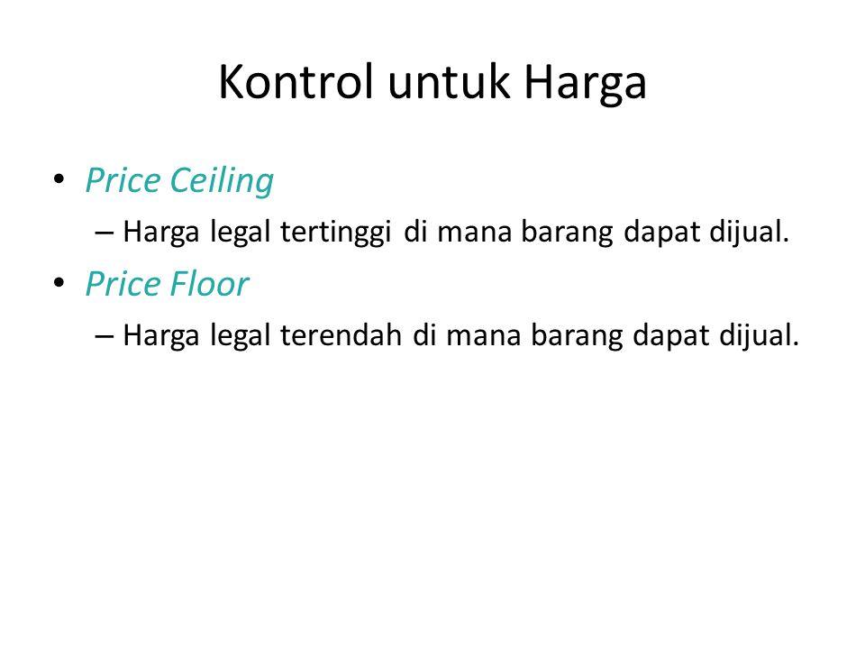 Kontrol untuk Harga Price Ceiling Price Floor
