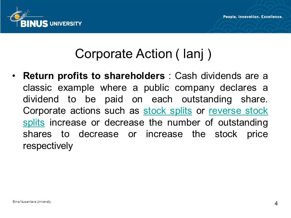 Corporate Action ( lanj )