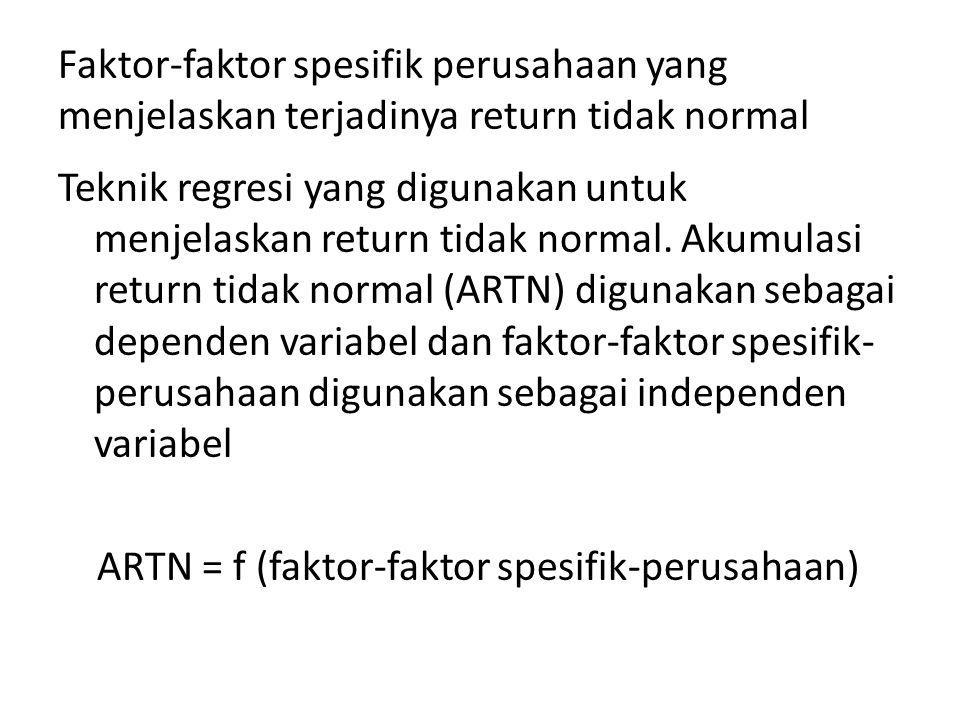 Faktor-faktor spesifik perusahaan yang menjelaskan terjadinya return tidak normal