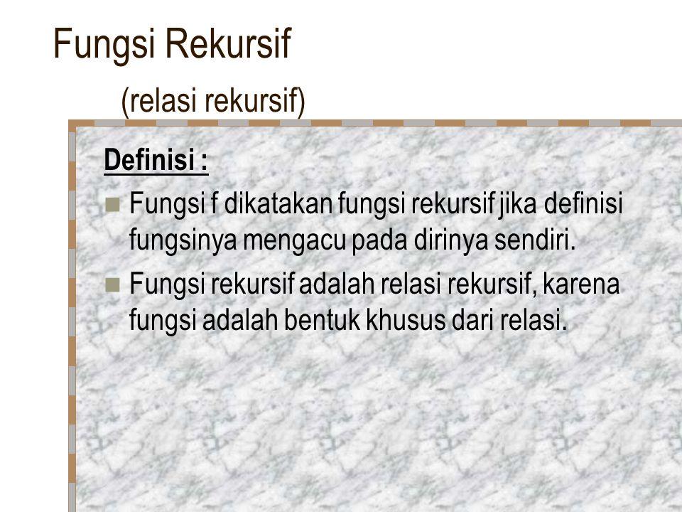 Fungsi Rekursif (relasi rekursif)