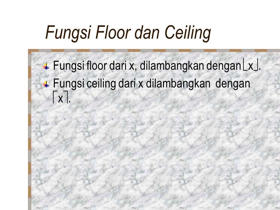 Fungsi Floor dan Ceiling