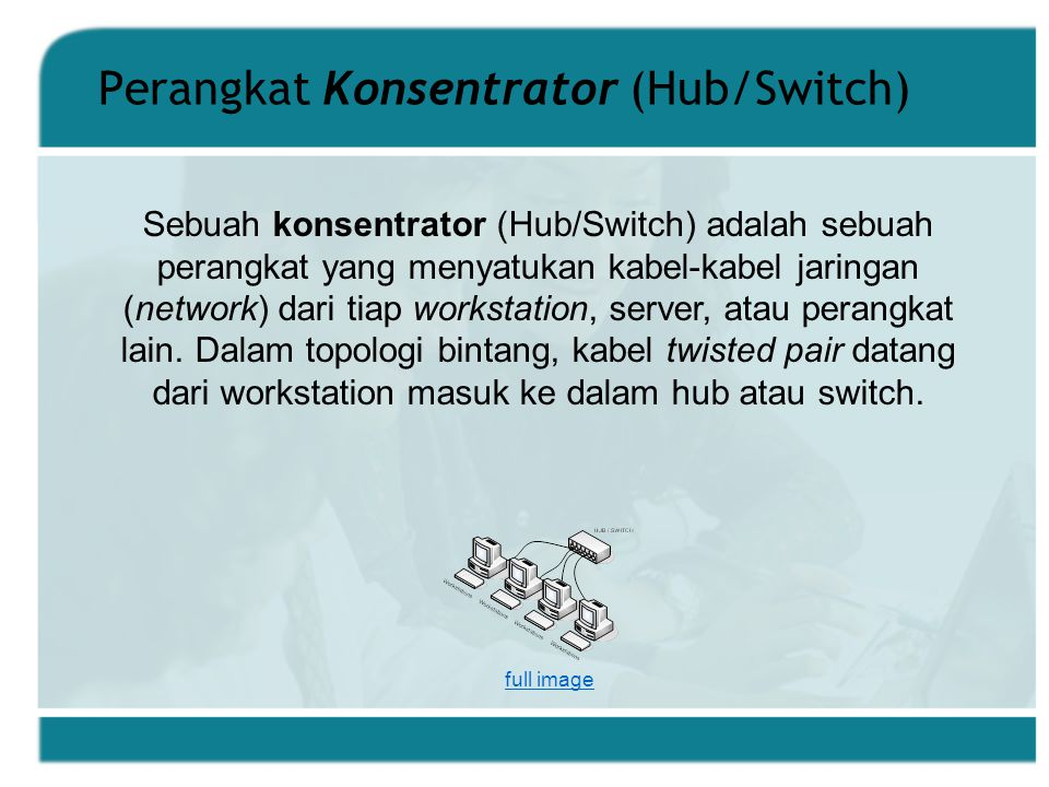 Perangkat Konsentrator (Hub/Switch)