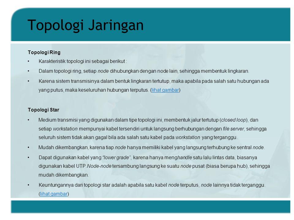 Topologi Jaringan Topologi Ring