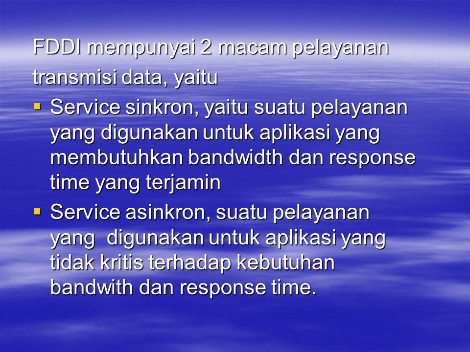 FDDI mempunyai 2 macam pelayanan