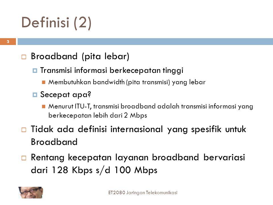 Definisi (2) Broadband (pita lebar)