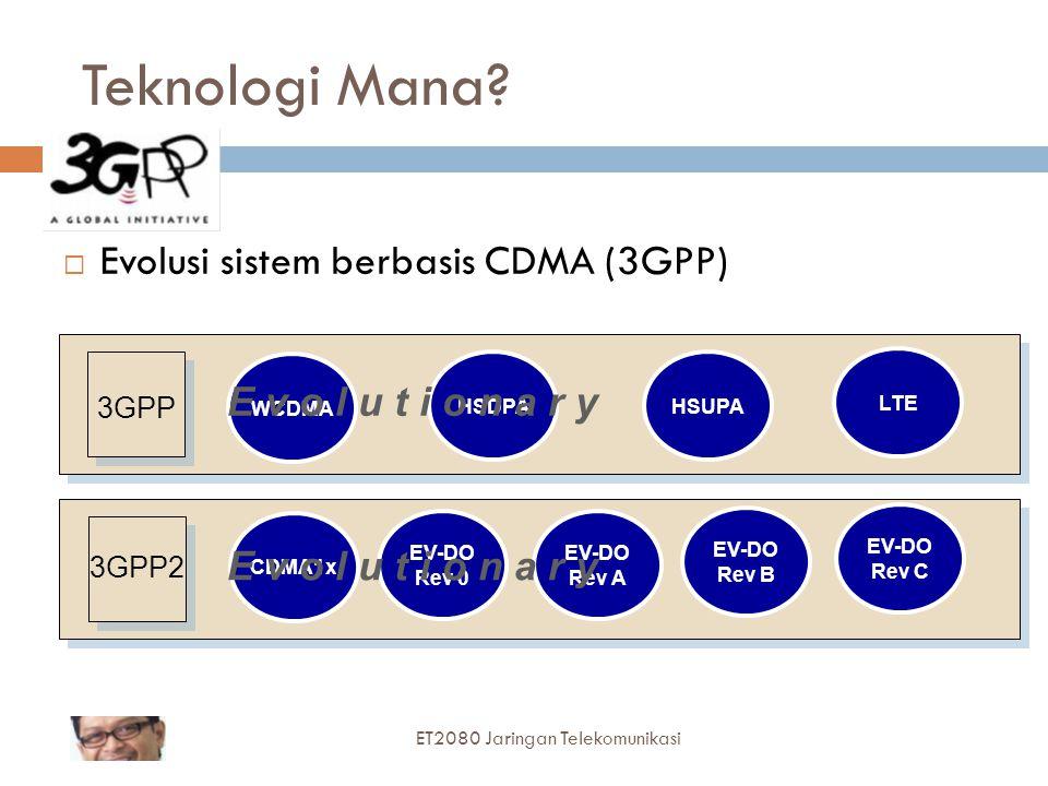 Teknologi Mana Evolusi sistem berbasis CDMA (3GPP)