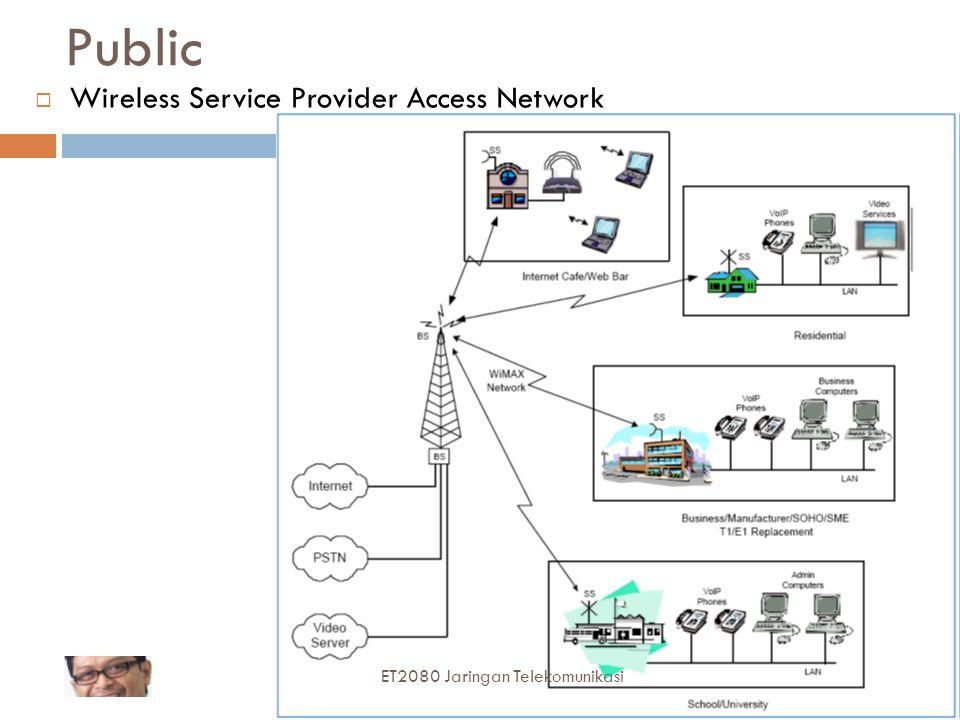 Public Wireless Service Provider Access Network